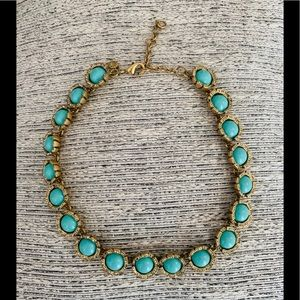 J.Crew Antique Gold & Turquoise Necklace